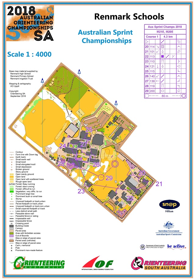 Aus Sprint Course 1 2