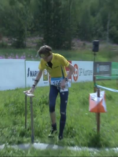 e0a264896f1 Angus Haines finishing long distance at world university orienteering  championships in Finland